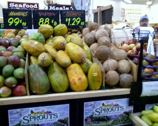 Tropical Fruits are usually readily available in grocery stores