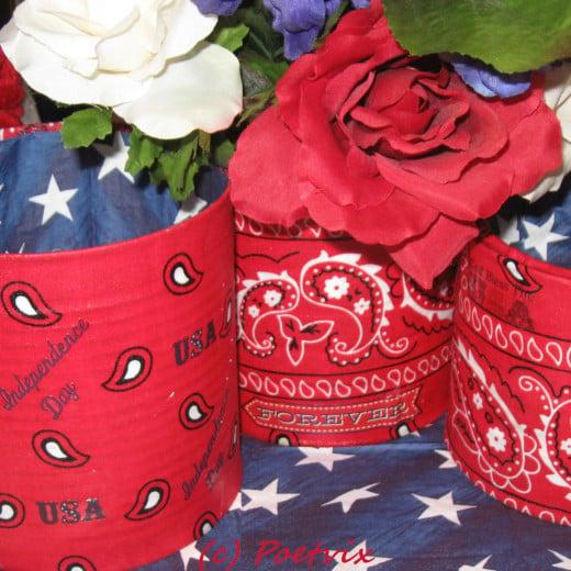 DIY Fourth of July Patriotic Planter