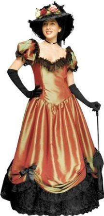 Tabi's Characters Women's Medium Southern Madame Dress Costume