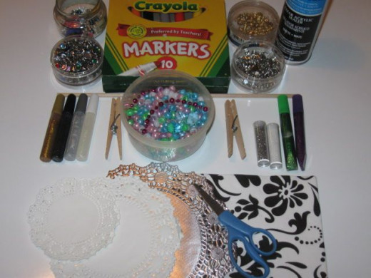 Materials to make Butterfly Bug Pixie wand