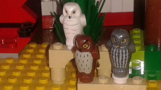 3 Lego Owls from Harry Potter