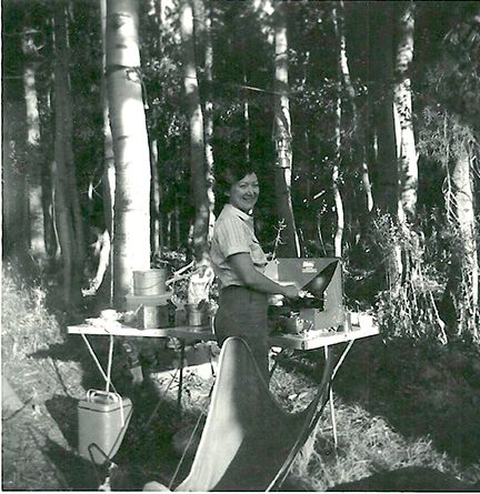 My beautiful Mom on a camping trip.