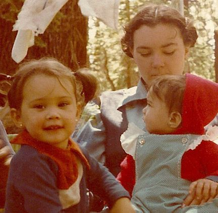 Taken of myself and my girls, by my sister with my Kodak 110.
