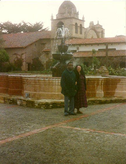 Photo of myself and my husband at Carmel, California.