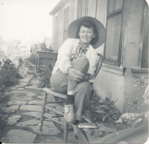 Black and white taken on my Brownie of my grandmother, Frankie. No one's granny.