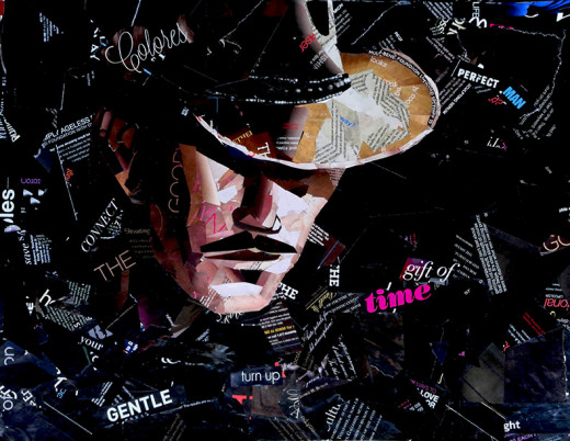 My portrait of the Cowboy Hat Collage.