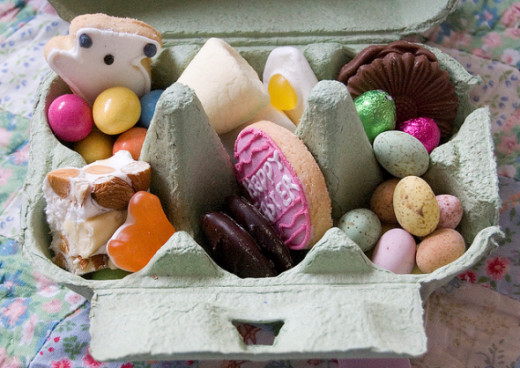 Who wouldn't want an egg box full of colorful sweets?!