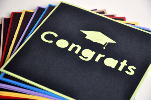 I love the contrasting colours of these modern graduation cards - the simple design is really effective.