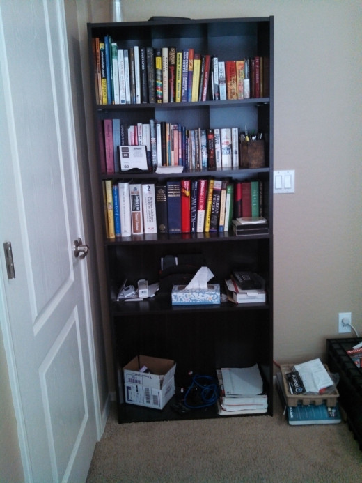 Bookshelves are to store any and everything