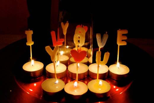 Candles are perfect for creating the romantic ambience.