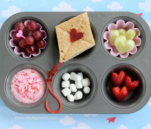 Surprise your kids with cute love-themed food.