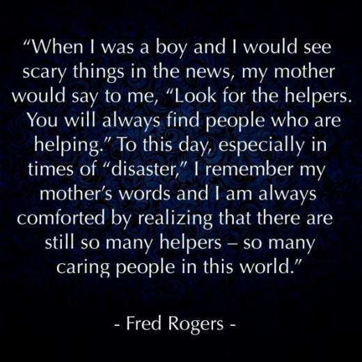 Mr Rogers talks about his Mom's advice from when he was a little kid. Great stuff!