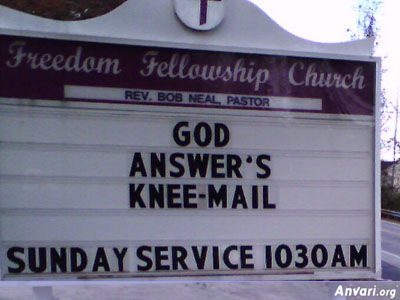 Drive by Church Humor