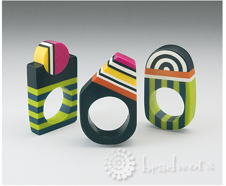 "Featured in the book ""Edle Schmuck-Unikate & Accessoires aus Polymer Clay""."