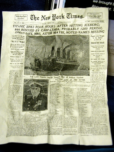 NY Times on the Titanic Rescue