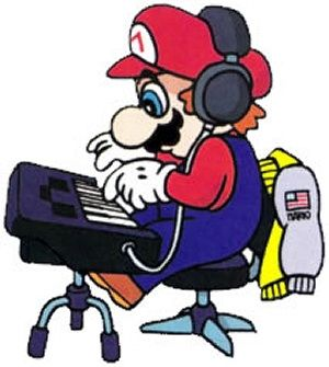 Mario Playing a Tune