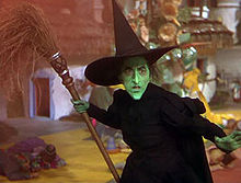 Margaret Hamilto as the Wicked Witch