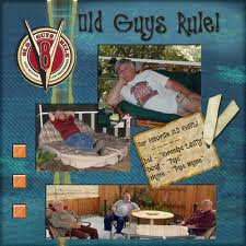 Old guys rule! - Great example of a scrapbook page!