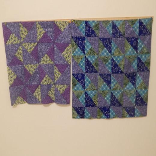 blue-green-mauve quilt blocks