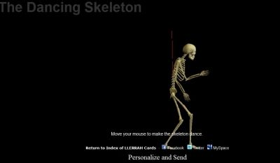 Fun Game!  Move Cursor to Make the Skeleton Dance