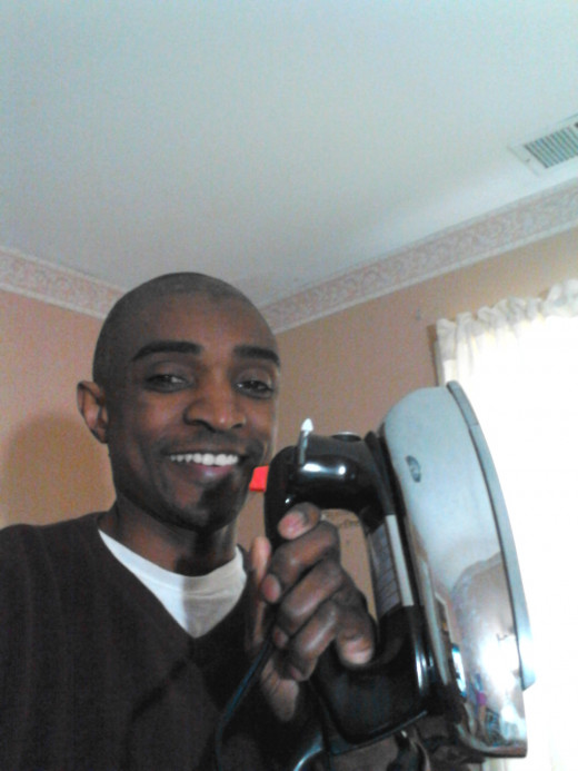 Just me with my iron.