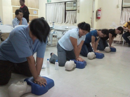 CPR training conducted by the author