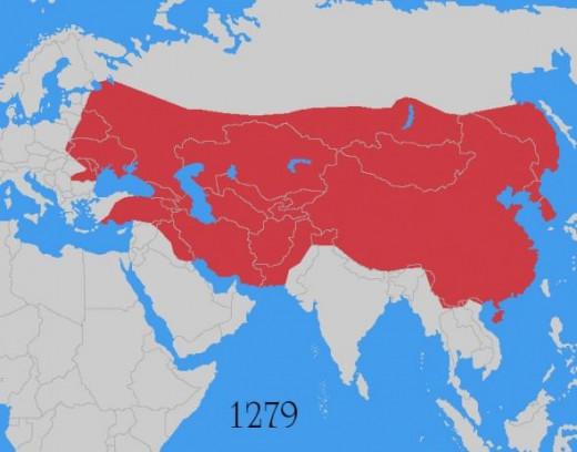 Territories held at the height of the Mongol Empire