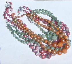 Vintage costume jewelry necklaces.