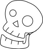 Simple 3/4 Skull