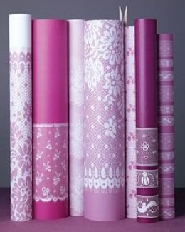 Lace wrapping paper. Source: MarthaStewart.com. See link below for directions.