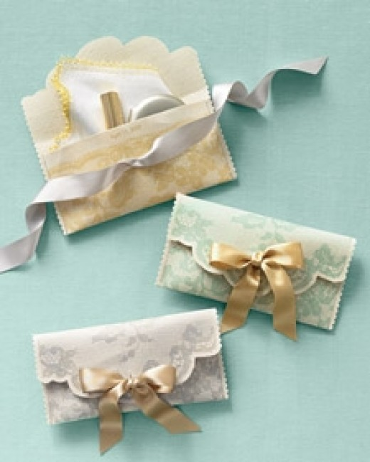 Lace clip art dresses up a clutch. Source: MarthaStewart.com. See link below for directions.