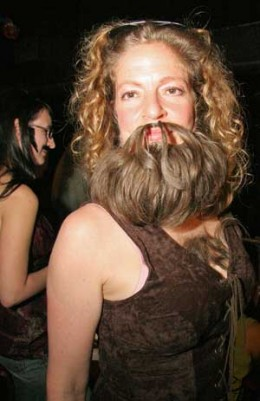 Sure, its really a woman with a beard, but I feel it illustrates the point as well as anything...