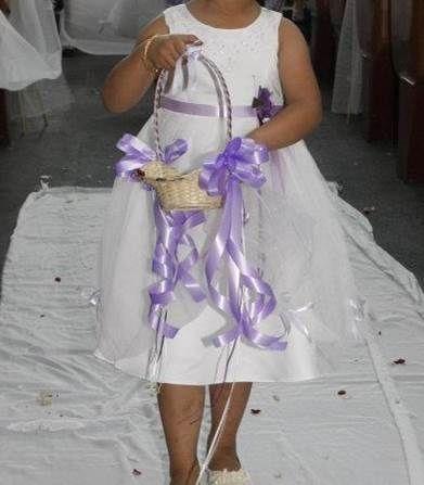 Simple Lavender Flower Basket