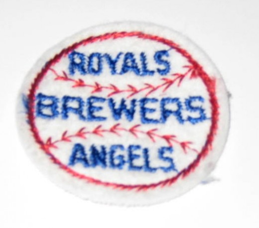 Baseball teams Royals, Brewers, and Angels sew on patch.
