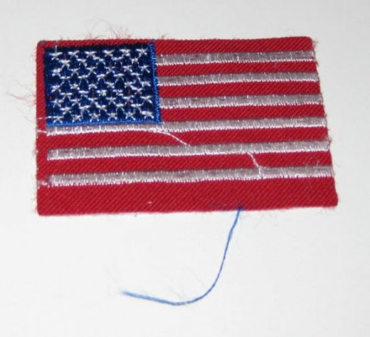 Traditional current American flag sew on patch.
