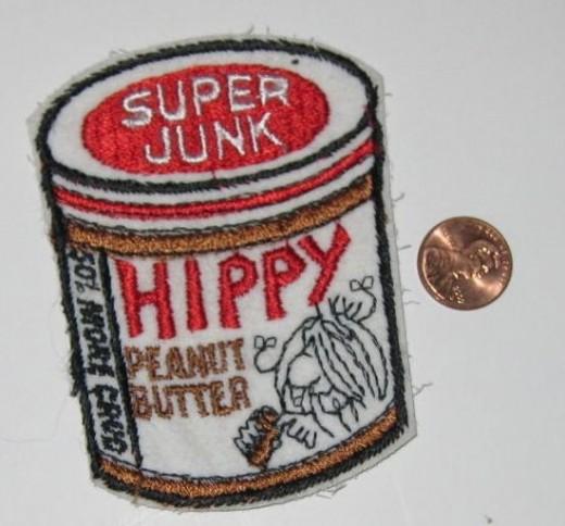 Hippy Peanut Butter (Skippy Peanut Butter) Sew On Patch.
