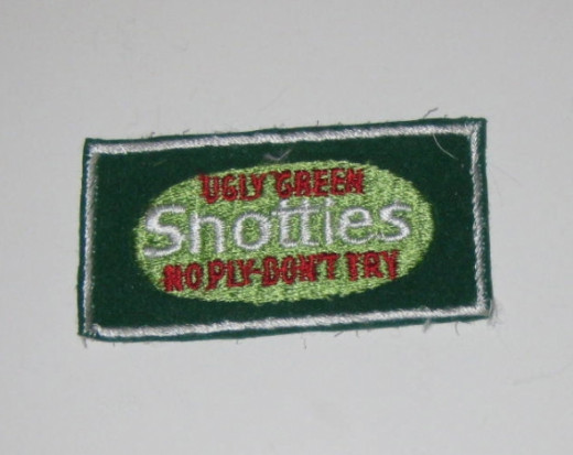 Snotties, no ply-don't try (Scotties tissues) Sew On Patch.