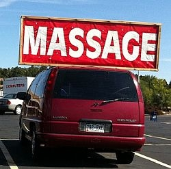 Traditional Marketing - Massage Sign