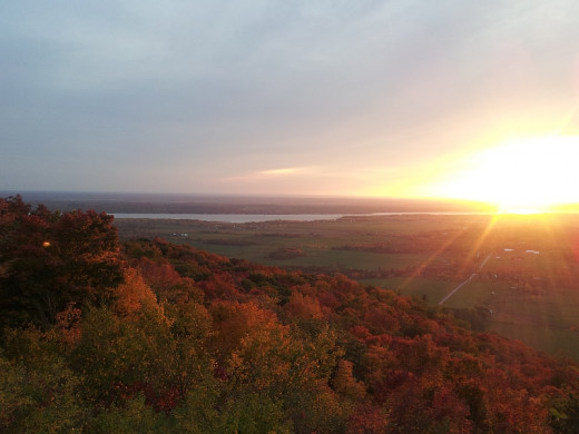 Sunset in Gatineau Park - Champlain Lookout in fall