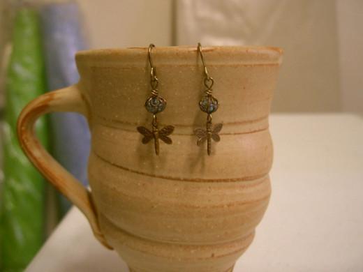 Finished Swarovski dangle earrings