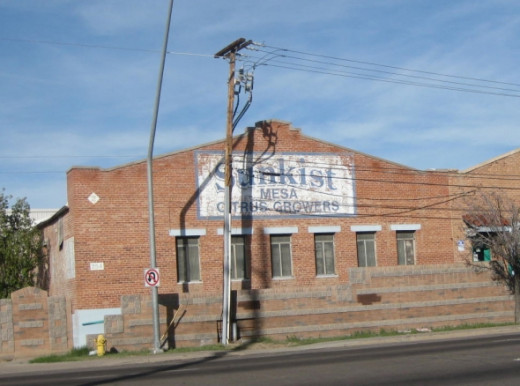 Sunkist Mesa Citrus Growers ghost sign in Mesa, Arizona. Photo Credit:  Peggy Hazelwood