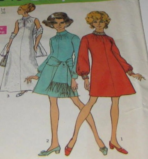 Vintage sewing pattern graphics for art collage.