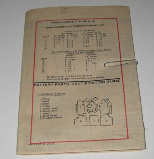 Vintage sewing pattern instructions. The directions and illustrations look great in collages.