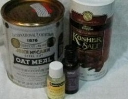 Ingredients for Oatmeal Salt Bath Soak