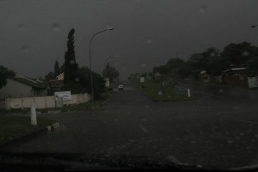 When the rain comes - a Typical Highveld thunderstorm.