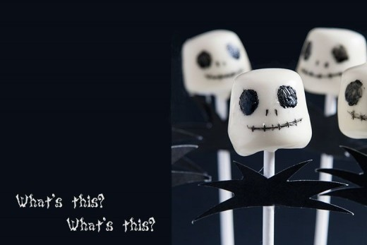 """Jack Skellington"" Marshmallow Pops by Crumbs and Corkscrews"