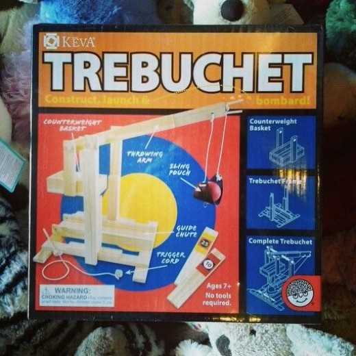 Build your own mini wooden Trebuchet kit!  This wooden toy is a great solution when buying toys for older kids (ages 8+)