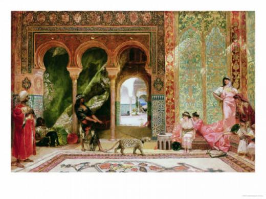 Victorian look inside a Harem