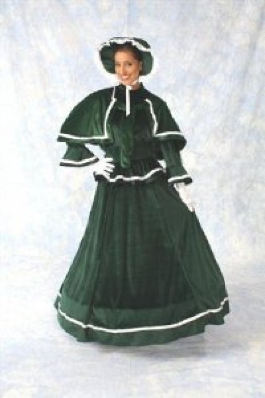Victorian elegance makes its appearance again in Christmas plays and historial enactments of carolers.