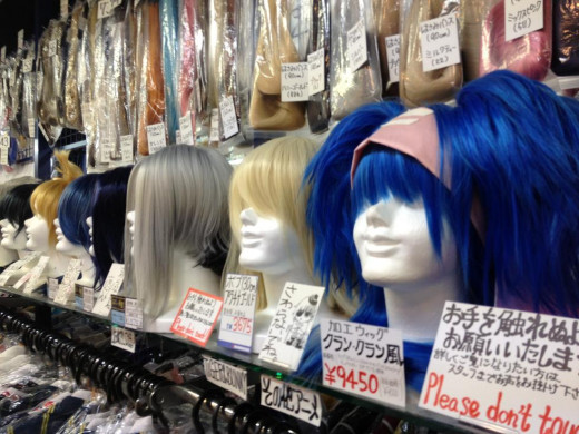Wigs, fancy colors, etc.